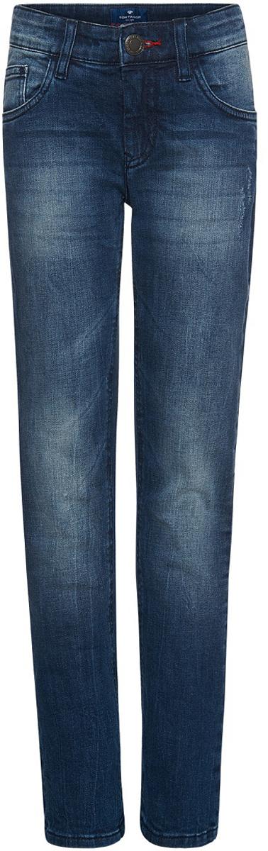 Джинсы для мальчика Tom Tailor, цвет: синий. 6205887.00.30_1094. Размер 1466205887.00.30_1094Джинсы для мальчика от Tom Tailor выполнены из эластичного хлопка. Модель прямого кроя в поясе застегивается на пуговицу, имеются ширинка и шлевки для ремня. Джинсы имеют классический пятикарманный крой: спереди – два втачных кармана и один маленький кармашек, сзади - два накладных кармана.