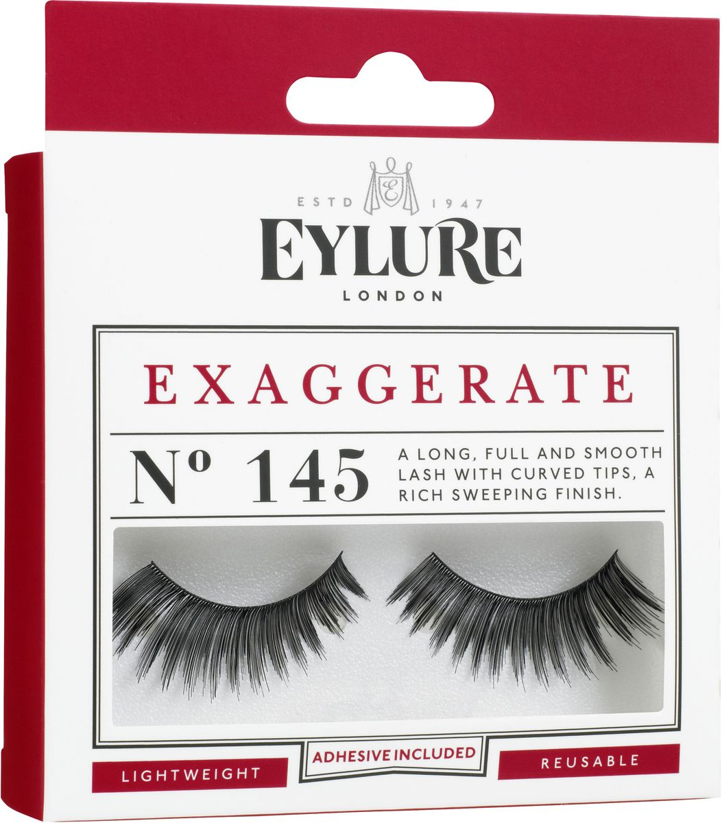 Eylure Накладные ресницы преувеличенные Exaggerate6001121Накладные ресницы из натурального волоса для создания эффекта длины.