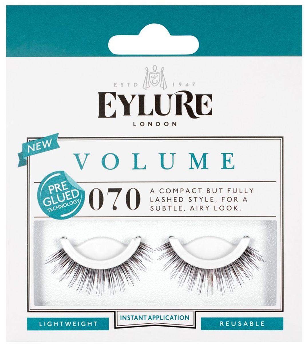 Eylure Накладные реницы объемные Volume Pre-Glued (с нанесенным клеем). 6006012MCBF003Накладные ресницы из натурального волоса для создания эффекта длины. В набор входит прозрачный клей для накладных ресниц Lashfix Clear.