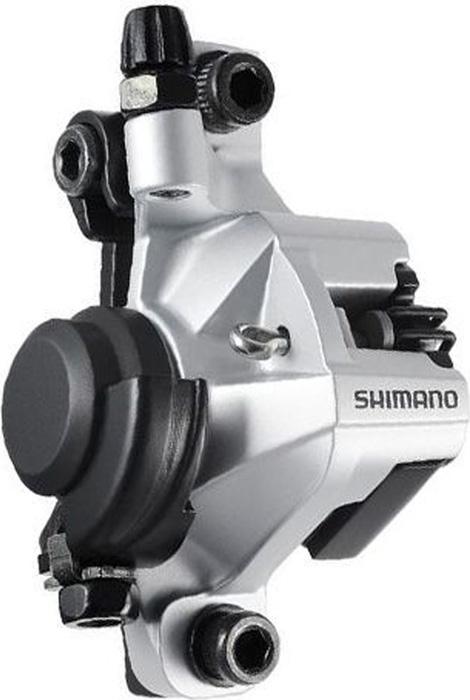 Калипер механических тормозов Shimano BR-M375, цвет: сереброEBRM375MPRSКалипер механических тормозов, BR-M375, сереб, пер. или задн., пласт. кол, post m.