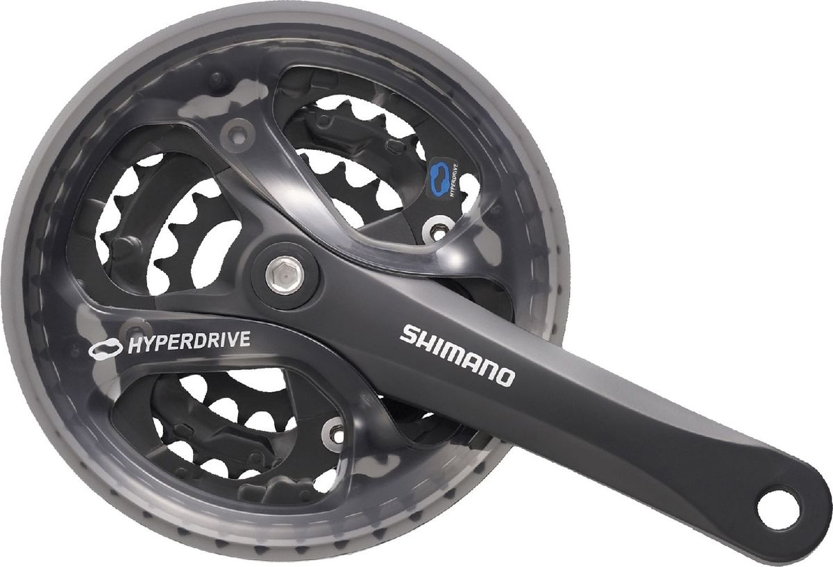 Система шатунов Shimano Acera M361, цвет: черный, 170 мм, 48/38/28T система shimano tourney fc ty301 170 мм 42 34 24 под квадрат черный с защитой afcty301c244cl