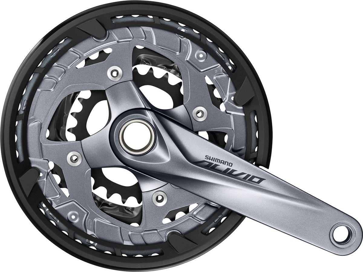 Система шатунов Shimano Alivio M4060, 9 скоростей, 175 мм, 48/36/26T шифтер shimano alivio m4000 3 x 9 скоростей