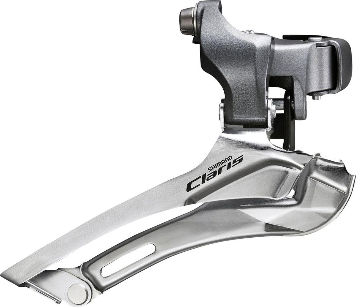Переключатель передний Shimano Claris 2400, 2 x 8 скоростей, на упорEFD2400FПереключатель передний Shimano Claris FD-2400 2x8 скоростейДля шоссейных велосипедов