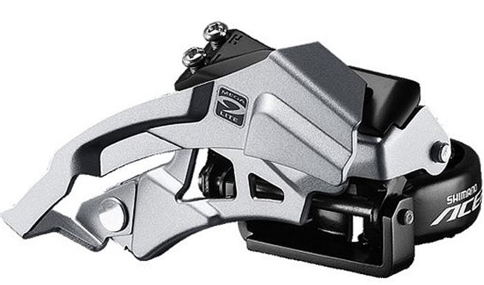 Переключатель передний Shimano Acera M3000, универсальная тяга, универсальный хомут, для рамы с углом 63-66, для 40TEFDM3000TSX3Переключатель передний Shimano 3Х9 скоростей Универсальная тяга Оптимизирован для компактной системы 40Х30Х22 Конструкция с широким линком, HYPERDRIVE Увеличен зазор для покрышек 29 Дополнительное анти-коррозионное покрытие Адаптеры 34,9/28,6 мм в комплекте Для рам с углом наклона подседельной трубы 66/69°