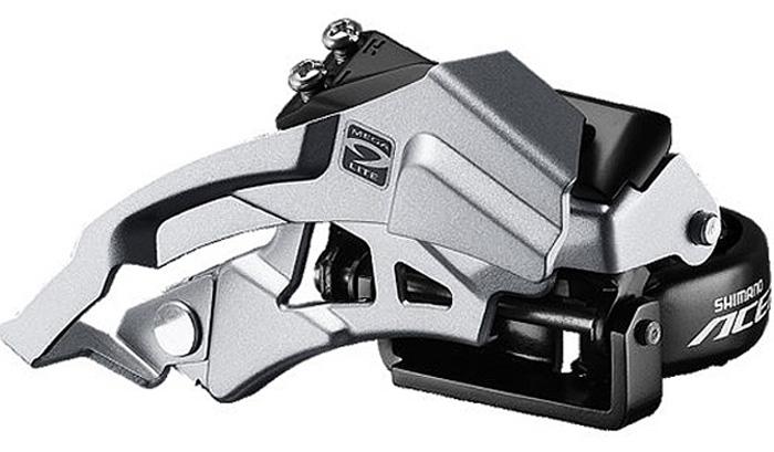 Переключатель передний Shimano Acera M3000, универсальная тяга, универсальный хомут, для рамы с углом 66-69, для 40TEFDM3000TSX6Переключатель передний Shimano 3 x 9 скоростей. Универсальная тяга. Оптимизирован для компактной системы 40 x 30 x 22. Конструкция с широким линком Hyperdrive. Увеличен зазор для покрышек 29. Дополнительное анти-коррозионное покрытие. Адаптеры 34,9/28,6 мм в комплекте. Для рам с углом наклона подседельной трубы 66/69°.