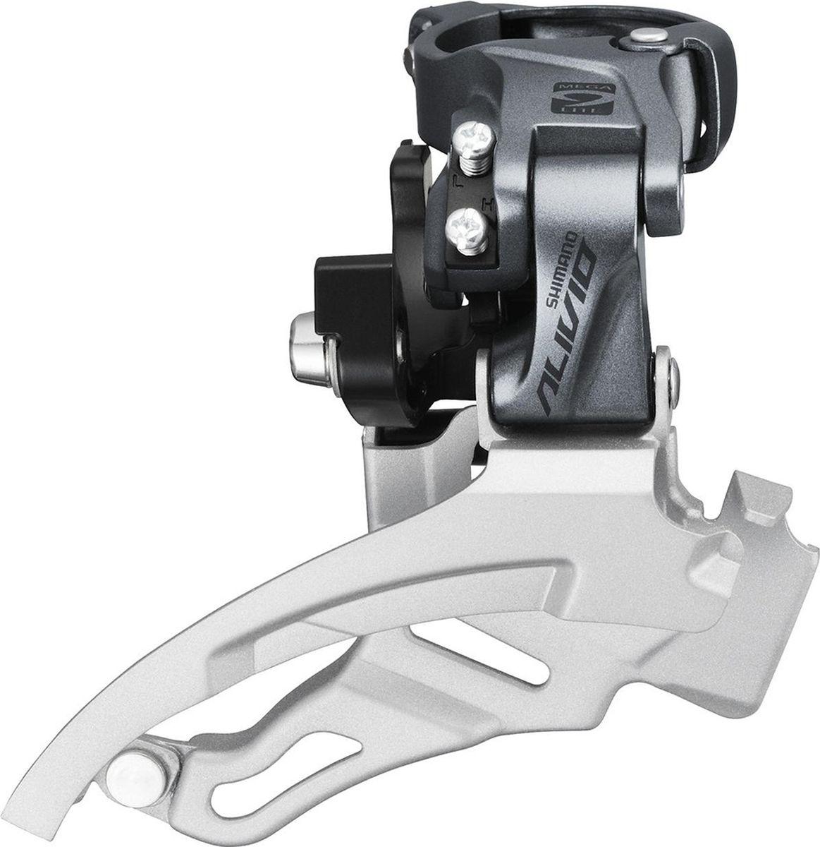 Переключатель передний Shimano Alivio M4000, универсальная тяга, верхний хомут, для 9 скоростей, для 40T переключатель передний shimano claris 2403 3 x 8 скоростей на упор