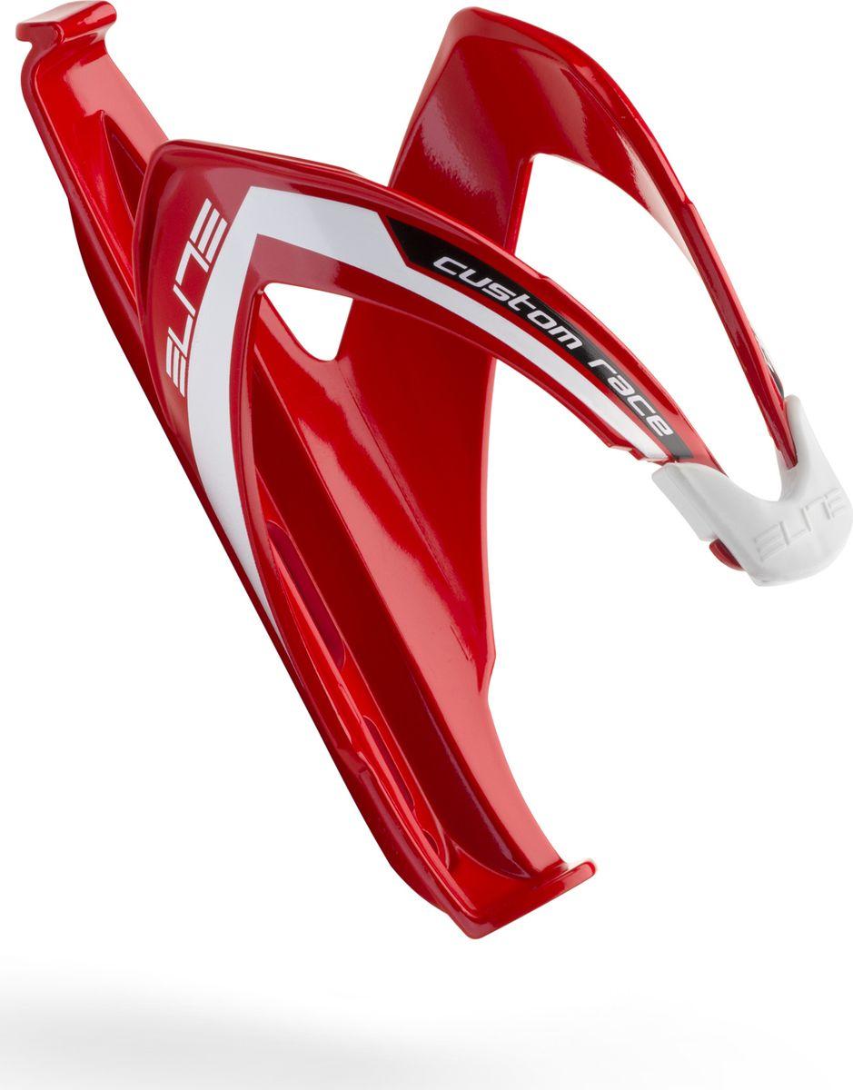 Флягодержатель Elite, Custom Race, цвет: красный, белыйEL0061684Флягодержатель Custom Race, fiberglass, красный глянец, логотип белый