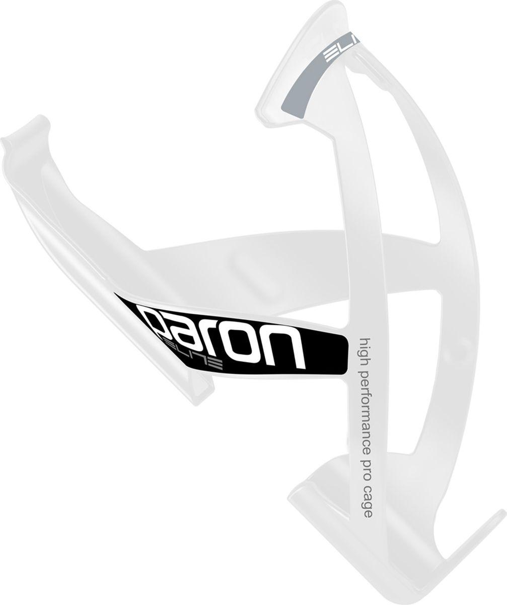 Флягодержатель Elite Paron Race белый, черныйEL0101512Флягодержатель Paron Race, белый, черный логотип