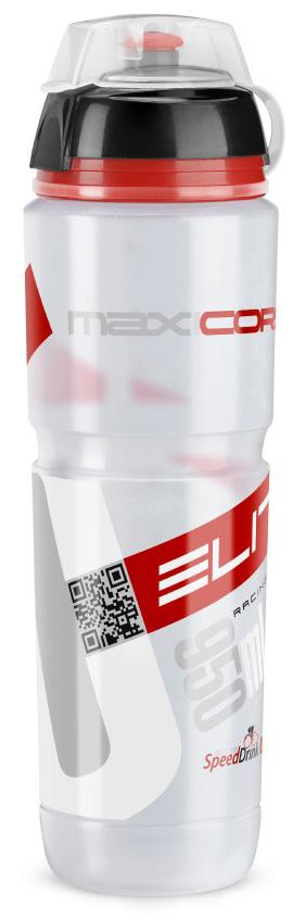 Фляга велосипедная Elite MaxiCorsa MTB Scalatore, цвет: белый, 1 л