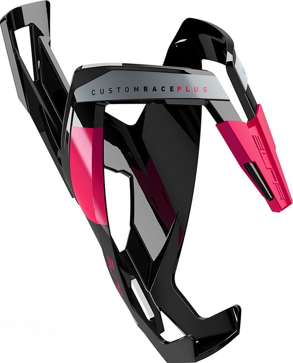 Флягодержатель Elite Custom Race Plus, цвет: черный, лиловыйEL0140611Флягодержатель Custom Race Plus, fiberglass, черный, лиловый рисунок