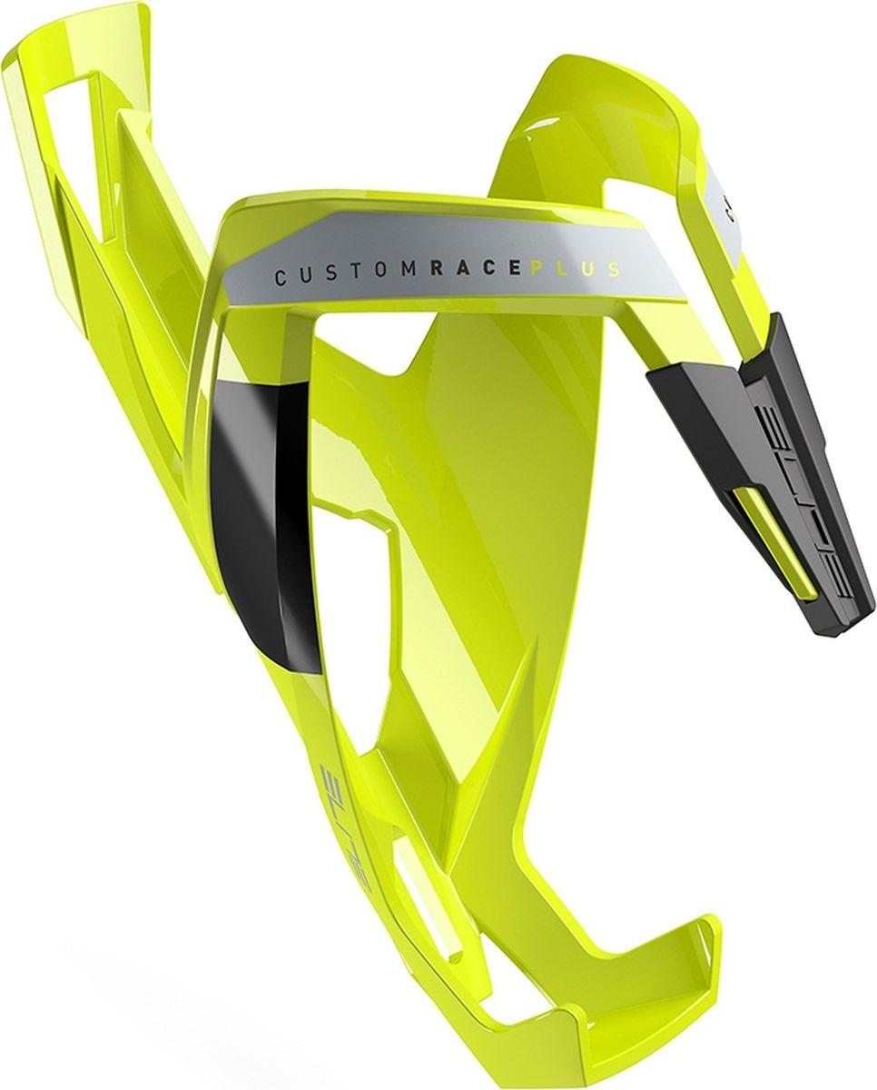 Флягодержатель Elite Custom Race Plus, цвет: желтыйEL0140612Флягодержатель Custom Race Plus, fiberglass, желтый, черный рисунок