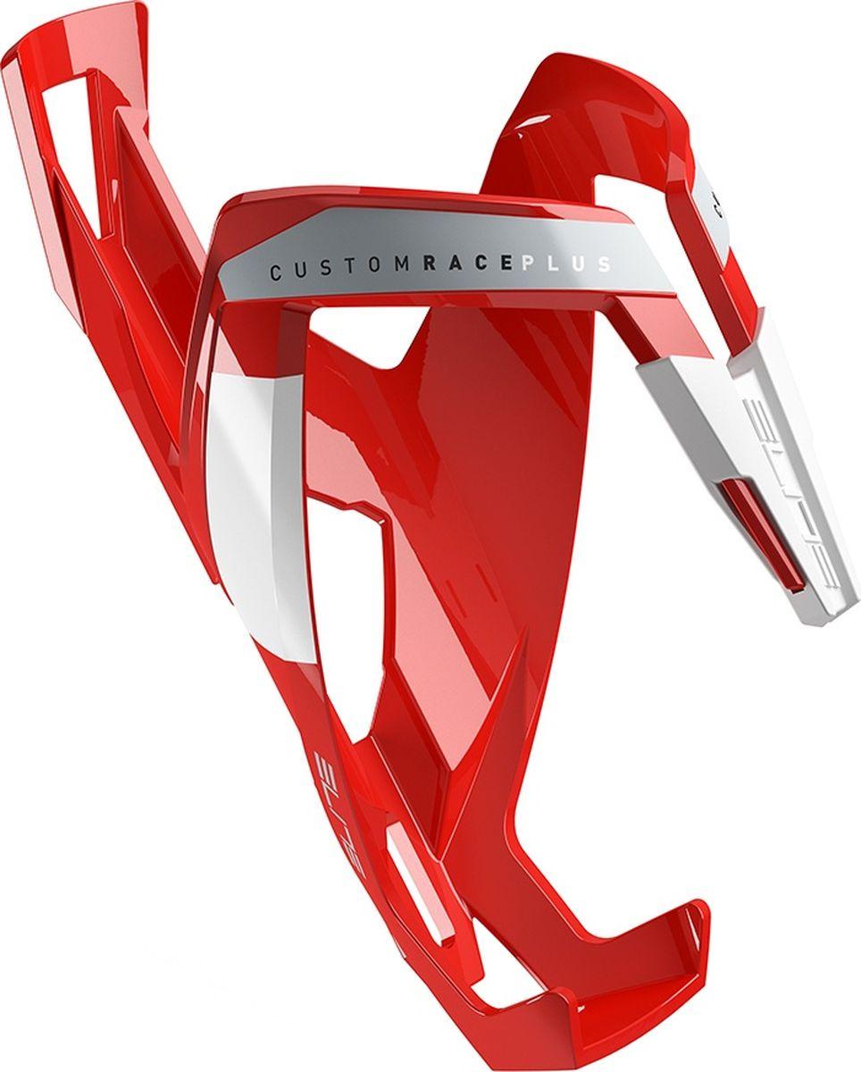 Флягодержатель Elite Custom Race Plus, цвет: красныйEL0140616Флягодержатель Custom Race Plus, fiberglass, красный, белый рисунок