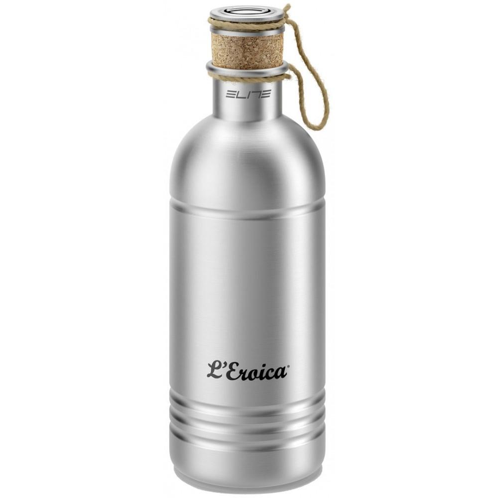 Фляга велосипедная Elite L'Eroica, цвет: серый, 600 мл metal hose nozzle high pressure water spray gun sprayer garden auto car washing