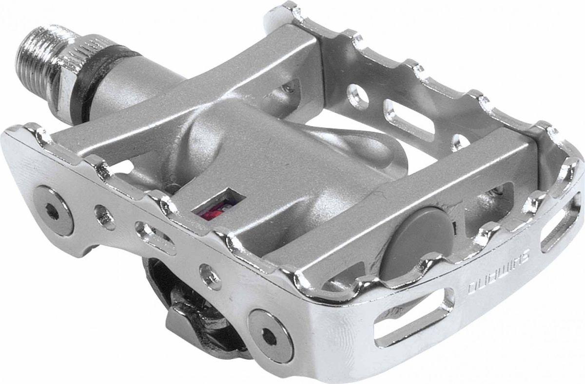 Педали Shimano M324, с шипамиEPDM324Педали Shimano M324 прекрасно подойдут и для соревнований и для обычного катания, а удобная платформа педали позволит комфортно расположить ногу в процессе катания.Характеристики:Стандарт контакта: SPD.Ось: Cr-Mo.Материал платформы: алюминий.Регулируемое усилие застегивания и отстегивания.Герметичный механизм и удобные в обслуживании подшипники типа конус-чашка.