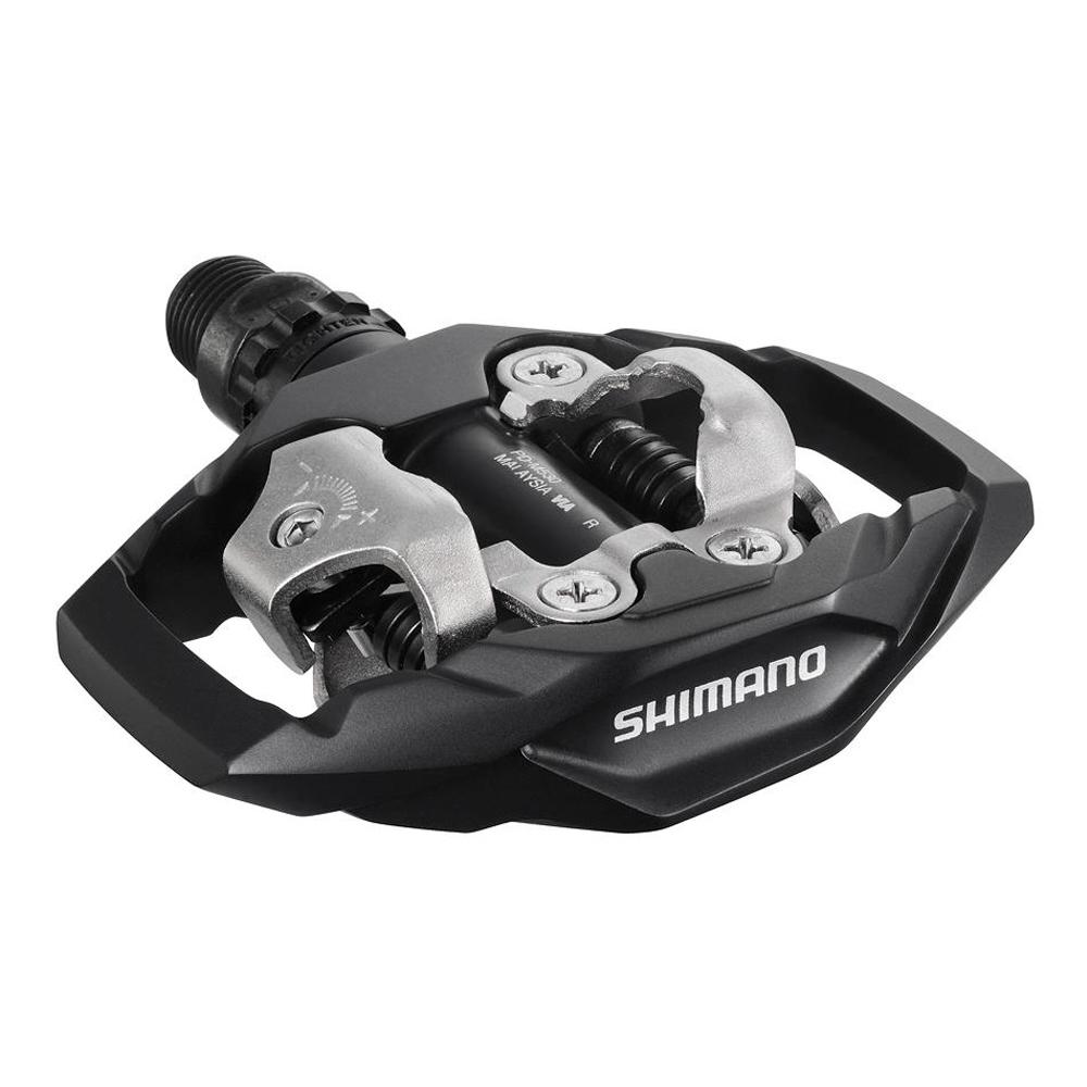 Педали Shimano M530, SPD, с шипами, цвет: черный