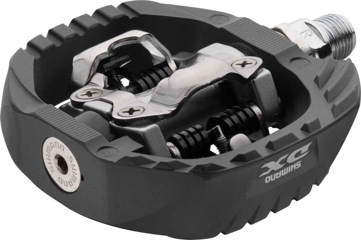 Педали Shimano M647, с шипамиEPDM647Контактные педали Shimano PD-M647 DX стандарта SPD. Созданы для суровых условий экстремального катания и гонок BMX. Имеют огромный запас прочности. • Двусторонний механизм располагает корпус педали под углом 12,5 градусов для легкого и быстрого застегивания• Регулируемое усилие застегивания и отстегивания• Отличная защита от грязи и мусора• Хромомолибденовая герметичная картриджная ось с усиленным стальным бортиком• Вес 568 грамм (пара).• Шипы в комплекте.