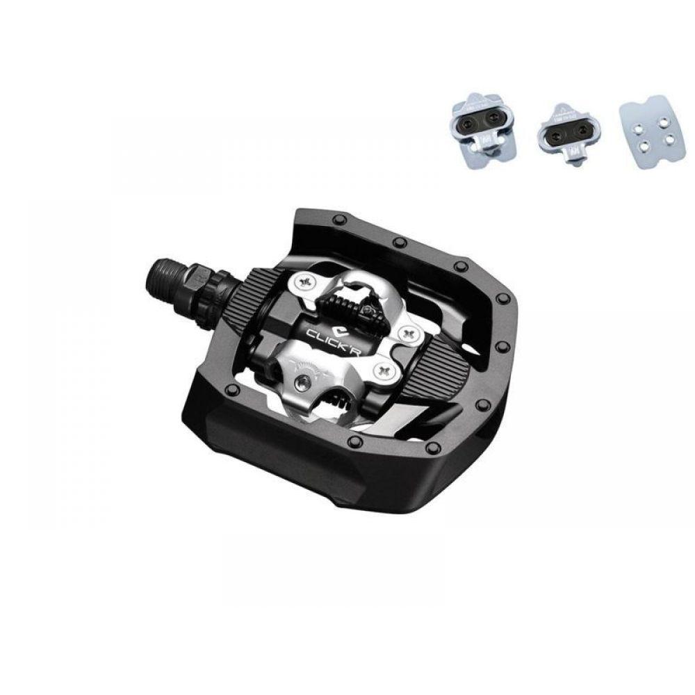 Педали Shimano MT50, с отражателями, с шипамиEPDMT50Контактные педали Shimano PD-MT50 стандарта SPD, для городского или кросс-кантри катания, с системой легкого пристегивания CLICKR (для начинающих).Двух сторонний механизм с регулировкой жесткости механизма, Cr-mo ось, рамка из композитного материала, шипы SM-SH56 в комплекте.