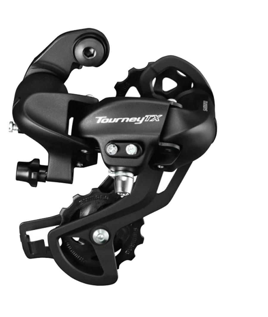 Переключатель задний Shimano Tourney TX800, 7/8 скоростей, крепление на петух, цвет: черныйERDTX800SGSLПереключатель задний Shimano Tourney RD-TX800, крепление на петух, на 7/8 скоростей, цвет черный.