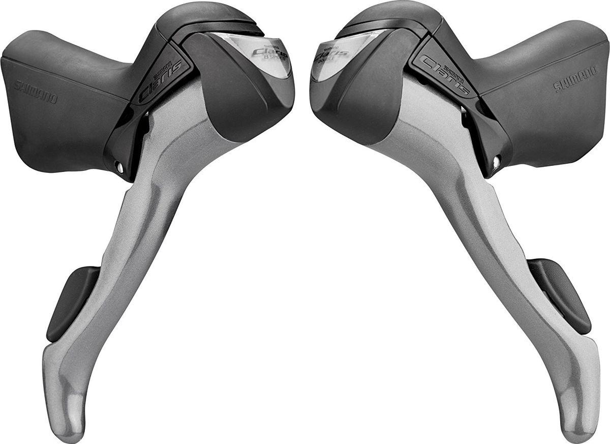 Шифтер/Тормоз Shimano Claris 2400, 3 x 8 скоростейEST2400TPAAШифтер/Тормозные ручки Claris Легкое переключение. Оптический индикатор передач. - Трос и оплетка в комплекте - 3x8 скоростей - Количество скоростей сзади: 8 - Количество скоростей спереди: 3- Оптический индикатор передач - Оплетка троса переключателя: SP41 - Трос переключателя: нержавеющая сталь
