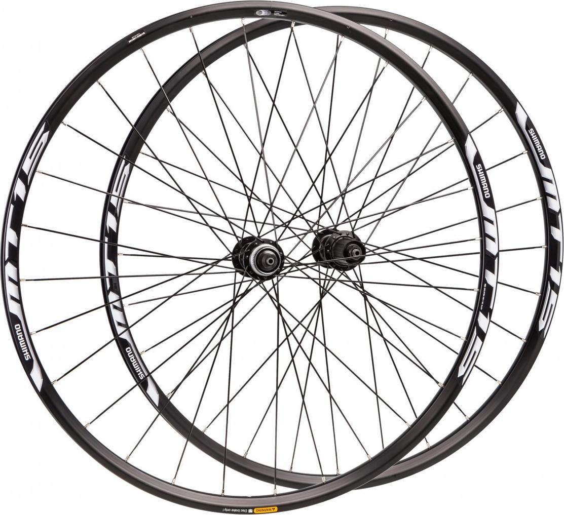 Комплект колес Shimano MT15, передних под полую ось 15 мм и задних QR, 26'' колеса велосипедные shimano mt35 переднее и заднее 27 5 center lock цвет черный ewhmt35fr7be