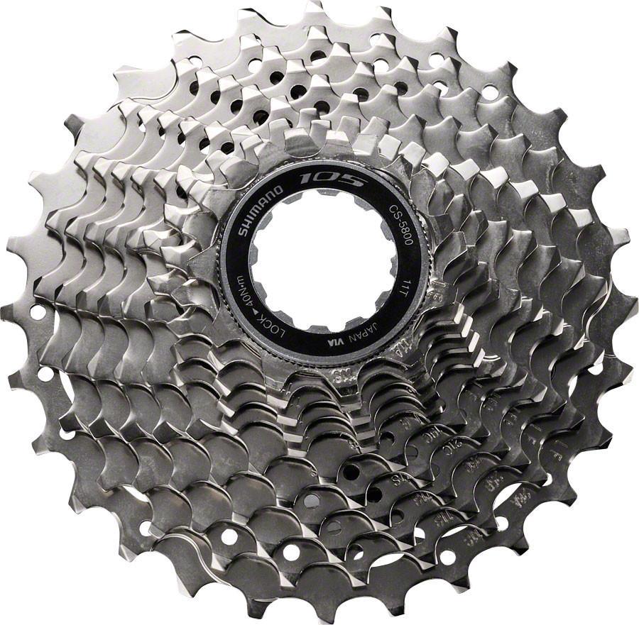 """Кассета Shimano """"105 5800"""" предназначена для установки на шоссейные велосипеды продвинутого уровня. Широкий диапазон передач, настроенных велосипедистом, находятся в ритме с контролем каденса 11 скоростей."""