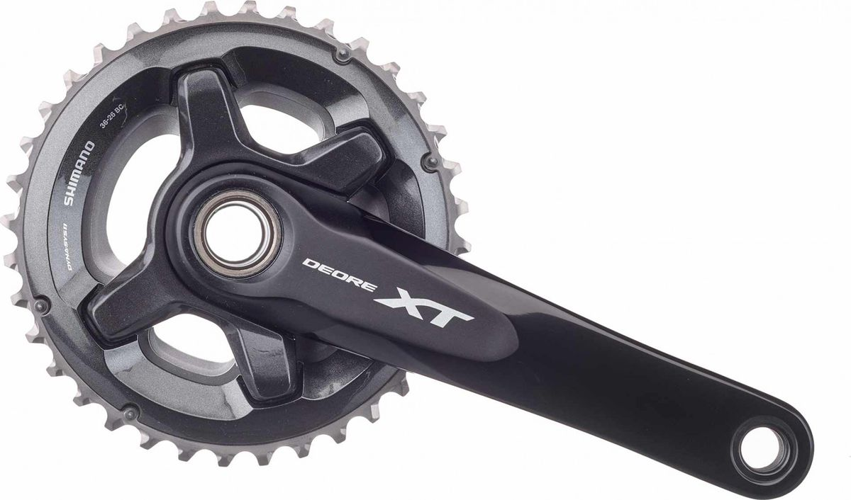 Система шатунов Shimano XT M8000-2, 175 мм, для 11 скоростей, 34x24T, без каретки, с бонками для CL 48,8 мм fouriers mtb mountain bikes chainring mountain bike mtb bicycle chain ring xt r m9000 m9020 xt m8000 11s chainwheel