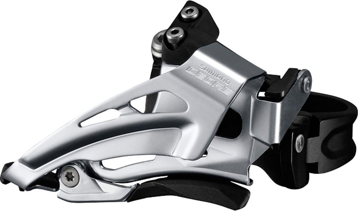 Переключатель передний Shimano Deore M618-L, для 2 x 10 скоростей, нижний хомут (34,9 с адаптером 28.6/31.8), нижняя тяга, цвет: черныйIFDM618LX6Переключатель передний Shimano Deore FD-M618 на 2x10 скоростей для горных и туристических велосипедов. Обеспечивает надежное и уверенное переключение передач.Переключатель совместим с цепями Hyperglide на 10 скоростей. Модель для системы с максимальной звездой 36/38T.Рассчитан на трансмиссию 2x10 скоростейВысокая скорость и надежное переключение передачСовместим с цепями Shimano Hyperglide (HG) на 10 скоростейПодходит для большой звезды на 36/38T