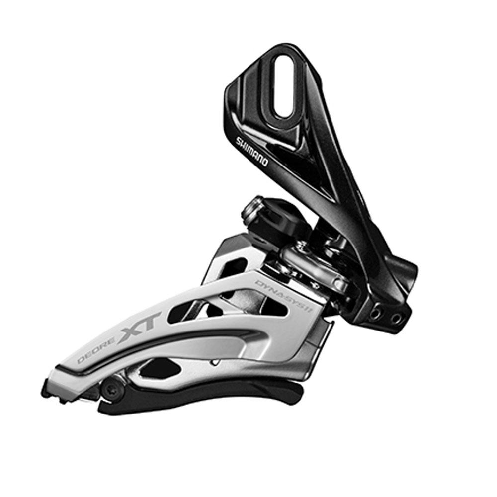 Переключатель передний Shimano XT M8020-D, Direct Mount, Side-Swing, для 2 х 11 скоростей, верхняя тягаIFDM8020D6Улучшенные стабильность, маневренность и эффективность переключения. Больше зазор для больших колес. Новая конструкция Side Swing для велосипедов с большими колесами. Совместим с нижними перьями меньшей длины.Эффективная прокладка троса для легкого переключения.Продуманная рамка переключателя для новой конструкции звезд с шипами системы 2 х 11.
