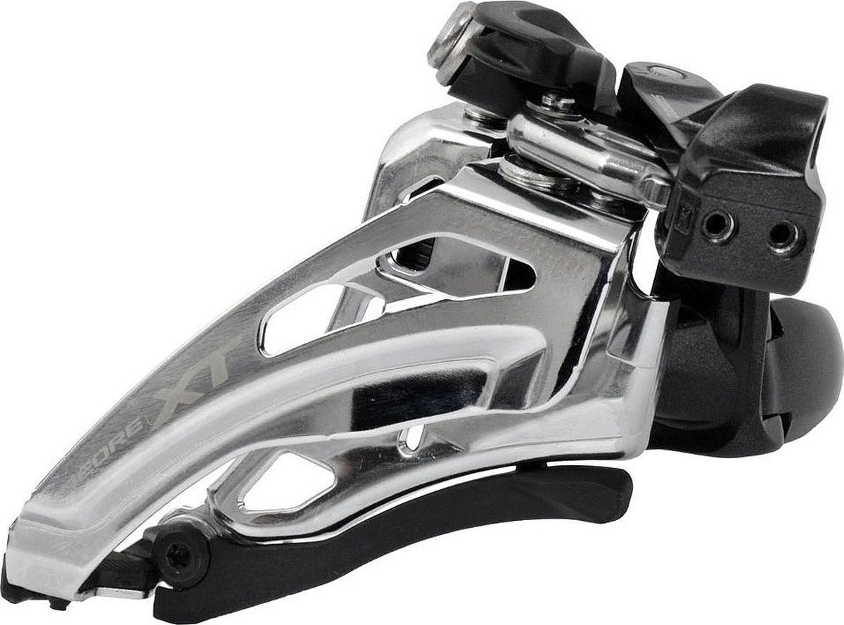 Переключатель передний Shimano XT M8020-L, нижний хомут, Side-Swing, для 2 х 11 скоростей, верхняя тягаIFDM8020LX6Улучшенные стабильность, маневренность и эффективность переключения.Больше зазор для больших колес. Новая конструкция Side-Swing для велосипедов с большими колесами. Совместимы с нижними перьями меньшей длины.