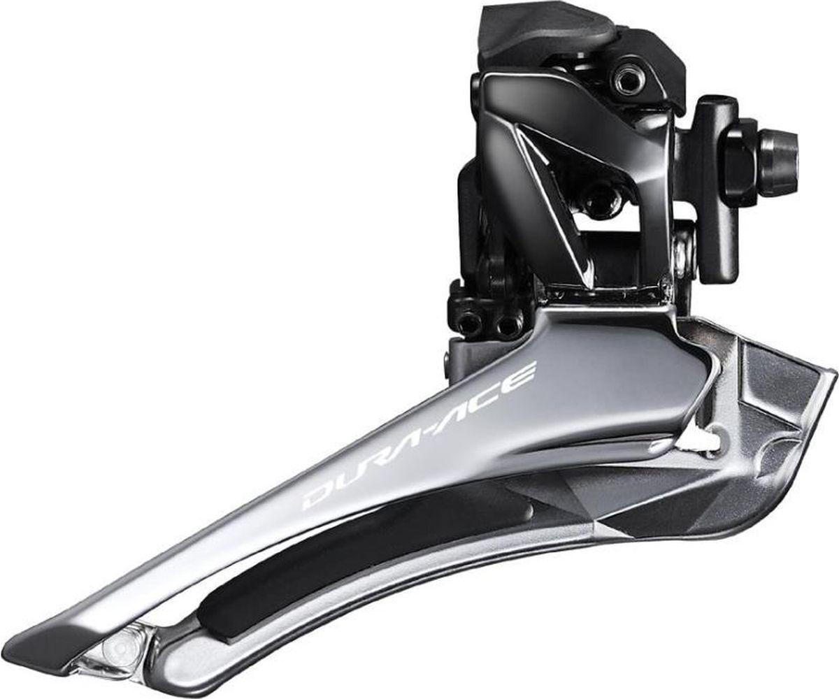 Переключатель передний Shimano Dura-Ace R9100, на упор, 2 х 11 скоростейIFDR9100FПереключатель передний Shimano Dura-Ace FD-R9100, установка на упор, для привода 2x11 скоростей.