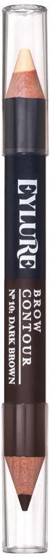 Eylure Двухсторонний контур для бровей, тон 10 темно-коричневый, 11 г6008132Двухсторонний контур для бровей 10 Темно-коричневый