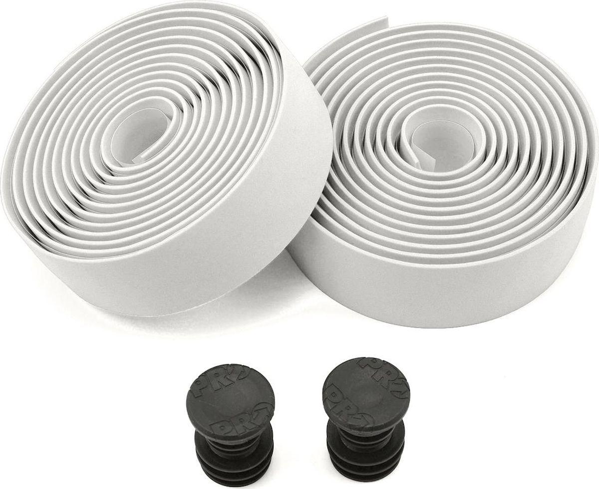 Обмотка руля Pro, клейкая, цвет: белыйPRTA0004PRO, обмотка руля клейкая, силикон, белый, заглушки