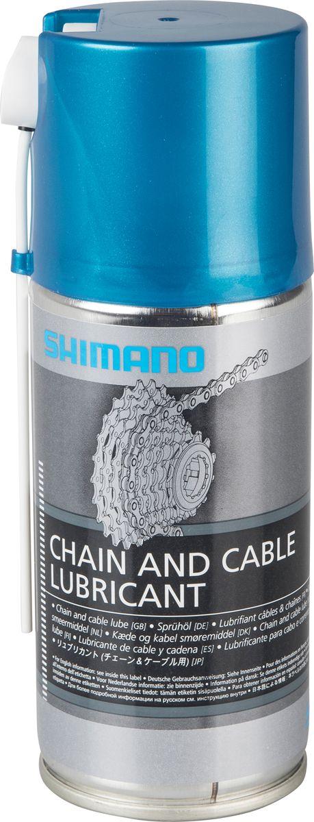 Смазка для цепи и оплетки Shimano, аэрозоль, 125 млWS1500103Смазка, для цепи и оплетки, аэрозоль, 125мл