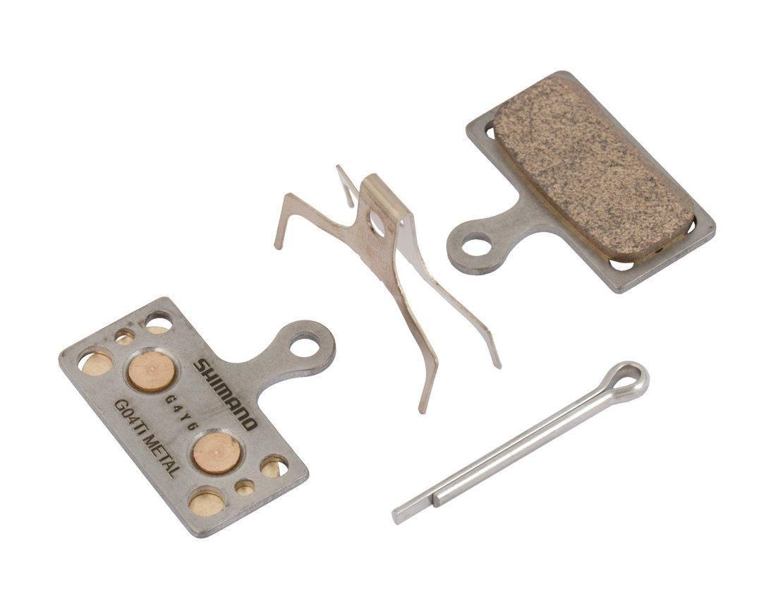 Тормозные колодки Shimano G03TI, для дисковых тормозов, с шплинтомY8J79804AТормозные колодки, для дисковых тормозов, G03TI, метал, пара, с пружин, с шплинтом