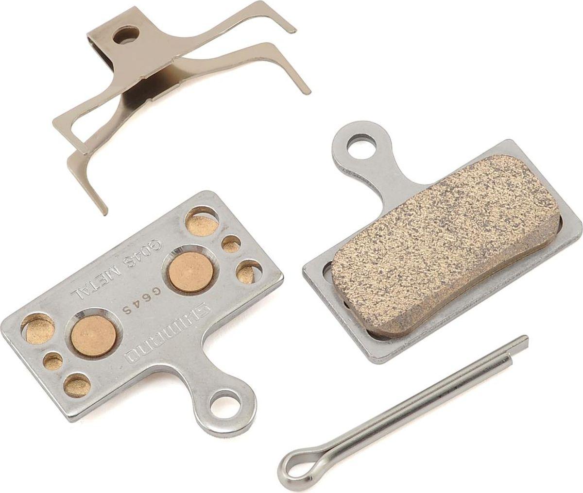 Тормозные колодки Shimano G04S, для дисковых тормозов, с шплинтомY8MY98010Тормозные колодки, для дисковых тормозов, G04S, метал, пара, с пружин, с шплинтом