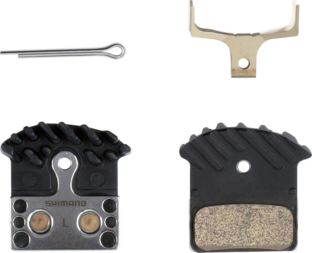 Тормозные колодки Shimano L04C, для дисковых тормозов, с радиатором, с шплинтом