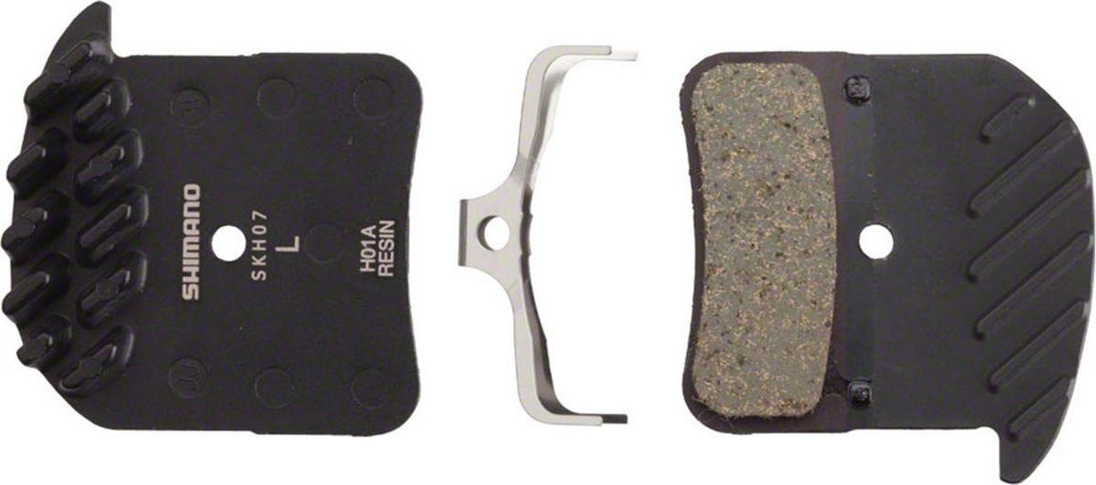 Тормозные колодки Shimano H01A, для дисковых тормозов, с радиатором, с шплинтомY8VT98010Тормозные колодки, для дисковых тормозов, H01A, пласт, с радиатором, пара, с пружин, с шплинтом