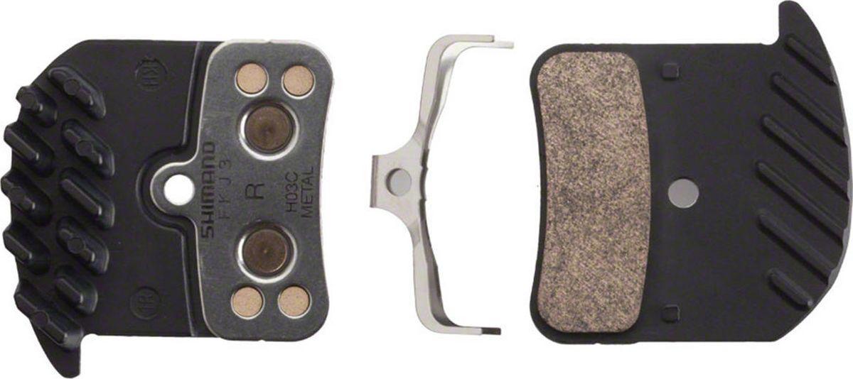 Тормозные колодки, для дисковых тормозов, H03C, метал, с радиатором, пара, с пружин, с шплинтом