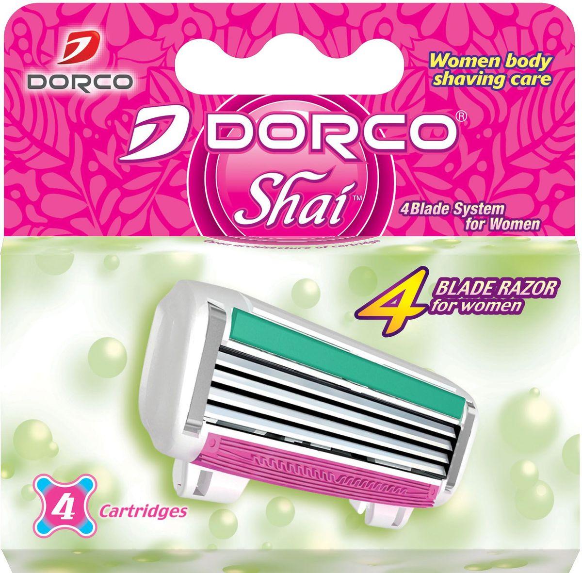 Dorco Kассеты для бритья Shai 4, женские, 4 шт.851230Кассеты с увлажняющей полоской и 4 лезвиями обеспечивают превосходный комфорт и чистоту бритья. Лезвия легко промываются. Плавающая головка обеспечивает гладкое и чистое бритье. ГОСТ Р 51243-99. Лезвие не вытирать. Не использовать в целях, отличающихся от прямого назначения продукта. Беречь от детей. Хранить в сухом, недоступном для детей месте.