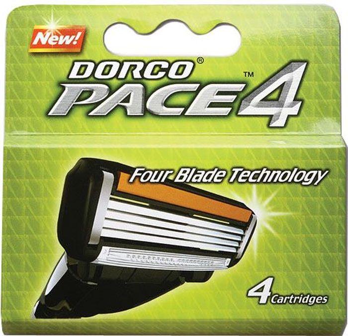 """Dorco Kассеты для бритья """"Pace 4"""", 4 шт."""