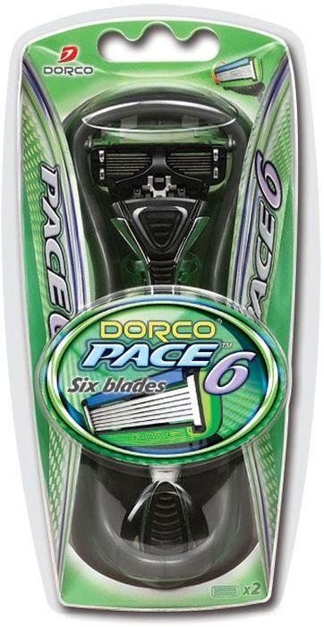 Dorco Cтанок для бритья Pace 6, 2 сменные кассеты851235Станок с увлажняющей полоской и c 6 лезвиями обеспечивает комфортное бритье. Лезвия легко промываются. Плавающая головка направляет бритву вдоль контуров вашего лица, обеспечивая более гладкое и чистое бритье. Эргономичная ручка с нескользящей поверхностью позволяет удерживать станок даже в мыльной руке. ГОСТ Р 51243-99. Лезвие не вытирать. Не использовать в целях, отличающихся от прямого назначения продукта. Беречь от детей. Хранить в сухом, недоступном для детей месте.