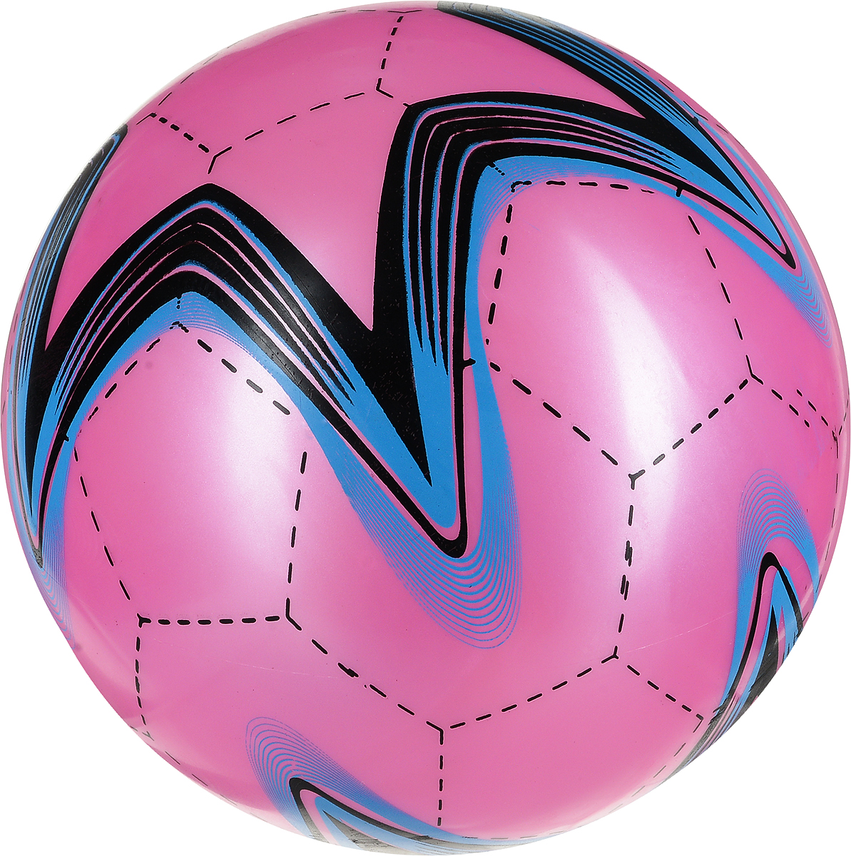 Забияка Мяч Звезда цвет розовый 22 см