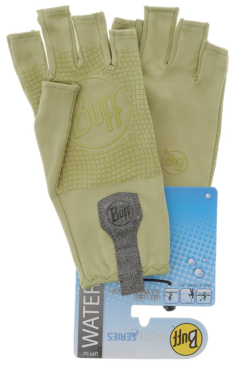 Перчатки рыболовные Buff Sport Water Light Sage, цвет: светло-оливковый. 15220. Размер M/L (7,5-8)Sport Water Light SageТехнологичные рыболовные перчатки. Полностью с закрытыми пальцами. Выполнены из стрейтчевой ткани, комфортно облегающей кисть руки. Ладонь перчатки покрыта силиконовым принтом. Фактор защиты от солнца UPF 50+. Удлиненная манжета. Состав: 95% нейлон, 5% лайкра; принт на ладони: 100% силикон, трикотаж.