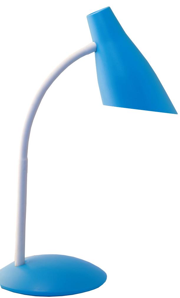 Настольная лампа Школьник, цвет: голубой. S-2304606400510512У любого школяра должно быть рабочее место для письма, чтения, рисования, игр на компьютере. Хорошо организованная зона помогает ему в учебе. Настольная лампа необходим как источник направленного света, так как рассеянных потоках ребенку трудно фокусировать взгляд на символах, считывать информацию. Мы предлагаем Вам новый настольный светильник «Школьник» в четырех цветовых решениях. Вся конструкция светильника выполнена из ABS-пластика и металла. Его размеры составляют: высота 39 см, диаметр основания 16 см. В светильнике используется лампа с цоколем Е14 («миньон») и мощность 40 Вт. Напряжение сети 220В, частота 50 Гц. ВНИМАНИЕ! При использовании ламп накаливания у светильника сильно нагревается плафон. Поэтому рекомендуем использовать компактные люминесцентные или светодиодные лампы.