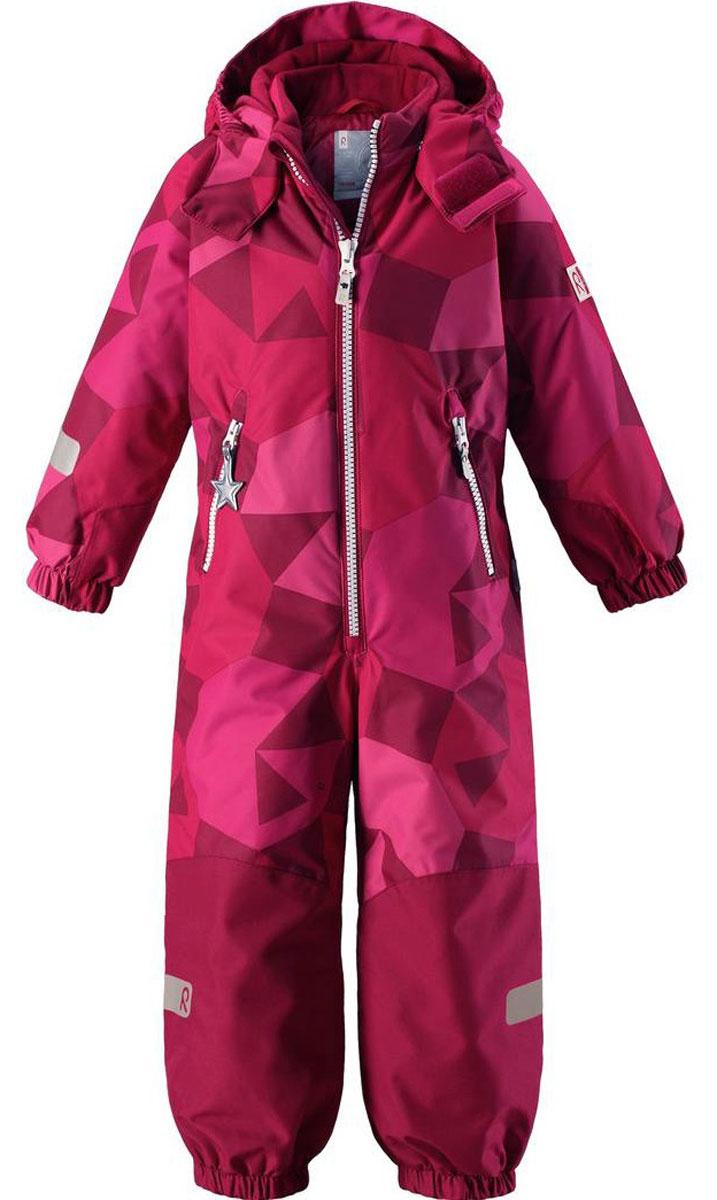 Комбинезон детский Reima Reimatec Kiddo Snowy, цвет: розовый. 520205B356. Размер 98