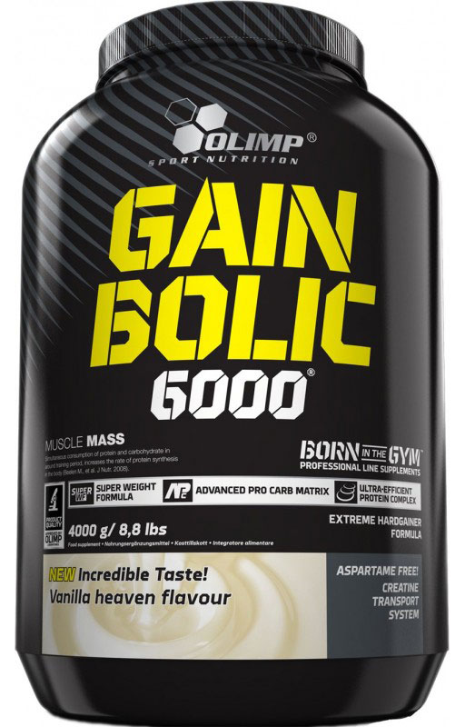 Гейнер Olimp Sport Nutrition Gain Bolic 6000, ваниль, 3500 г протеин olimp sport nutrition provit 80 ваниль 700 г