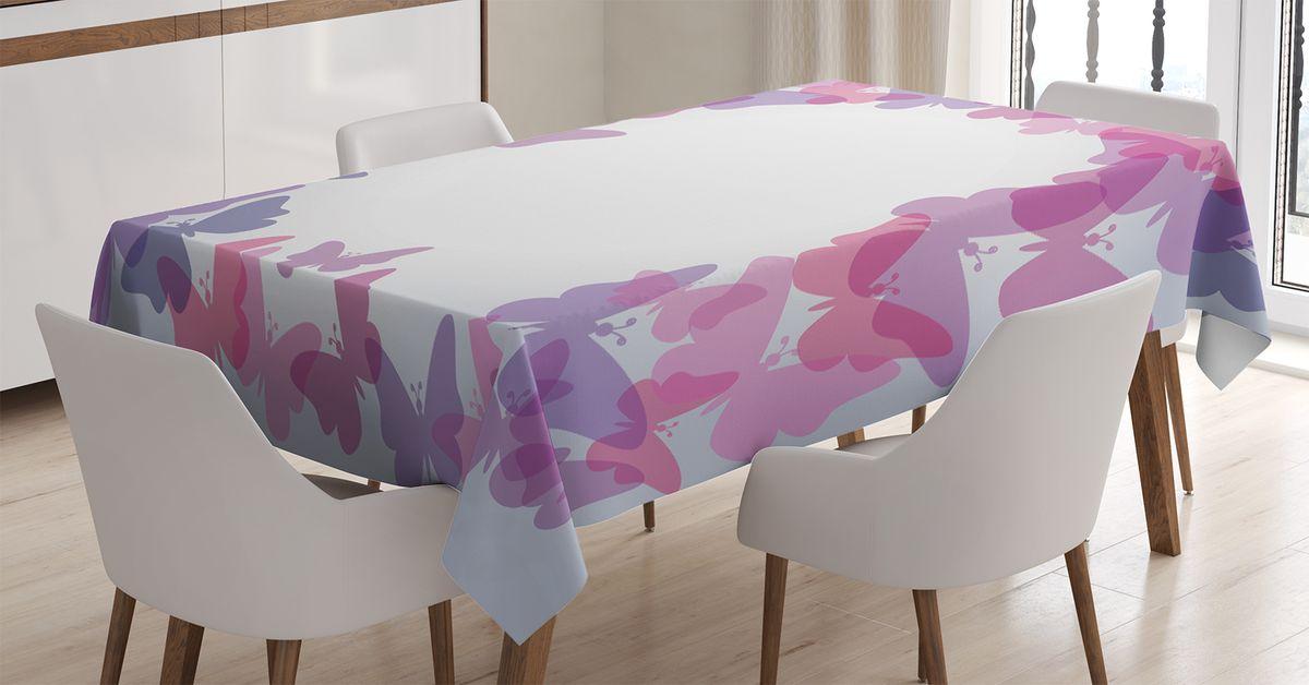 Скатерть Magic Lady, прямоугольная, цвет: белый, сиреневый, розовый, 120 х 145 см. tc_13591_120x145tc-13591-120x145Оригинальная фотоскатерть от Magic Lady украсит ваш дом.Изделие выполнено из высококачественного сатена (полиэстер 100%). При изготовлении используются специальные гипоаллергенные чернила для прямой печати по ткани, безопасные для человека и животных. Экологичность продукции Magic Lady и безопасность для окружающей среды подтверждены сертификатом Oeko-Tex Standard 100.Внимание!При нанесении сублимационной печати на ткань технологическим методом при температуре 240 С, возможно отклонение полученных размеров (указанных на этикетке и сайте) от стандартных на + - 3-5 см. Мы стараемся максимально точно передать цвета изделия на наших фотографиях, однако искажения неизбежны и фактический цвет изделия может отличаться от воспринимаемого по фото.