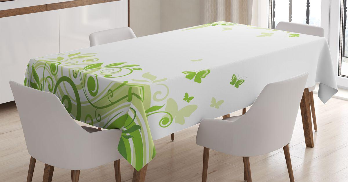 Скатерть Magic Lady, прямоугольная, цвет: белый, зеленый, салатовый, 120 х 145 см. tc_13593_120x145tc-15399-180x145Оригинальная фотоскатерть от Magic Lady украсит ваш дом.Изделие выполнено из высококачественного сатена (полиэстер 100%). При изготовлении используются специальные гипоаллергенные чернила для прямой печати по ткани, безопасные для человека и животных. Экологичность продукции Magic Lady и безопасность для окружающей среды подтверждены сертификатом Oeko-Tex Standard 100.Внимание!При нанесении сублимационной печати на ткань технологическим методом при температуре 240 С, возможно отклонение полученных размеров (указанных на этикетке и сайте) от стандартных на + - 3-5 см. Мы стараемся максимально точно передать цвета изделия на наших фотографиях, однако искажения неизбежны и фактический цвет изделия может отличаться от воспринимаемого по фото.