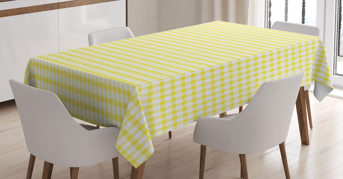 Скатерть Magic Lady, прямоугольная, цвет: белый, желтый, 120 х 145 см. tc_14013_120x145tc-14013-120x145Оригинальная фотоскатерть от Magic Lady украсит ваш дом. Изделие выполнено из высококачественного сатена (полиэстер 100%). При изготовлении используются специальные гипоаллергенные чернила для прямой печати по ткани, безопасные для человека и животных. Экологичность продукции Magic Lady и безопасность для окружающей среды подтверждены сертификатом Oeko-Tex Standard 100. Внимание! При нанесении сублимационной печати на ткань технологическим методом при температуре 240 С, возможно отклонение полученных размеров (указанных на этикетке и сайте) от стандартных на + - 3-5 см. Мы стараемся максимально точно передать цвета изделия на наших фотографиях, однако искажения неизбежны и фактический цвет изделия может отличаться от воспринимаемого по фото.