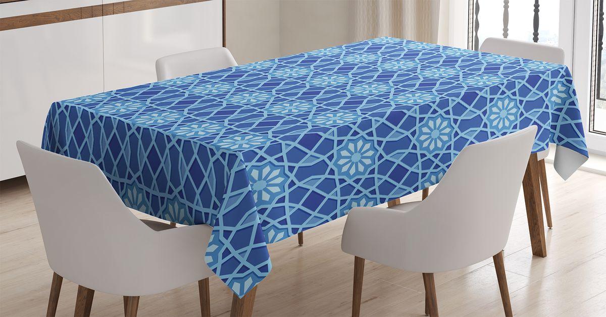Скатерть Magic Lady, прямоугольная, цвет: синий, голубой, 120 х 145 см. tc_15400_120x145tc-15400-120x145Оригинальная фотоскатерть от Magic Lady украсит ваш дом. Изделие выполнено из высококачественного сатена (полиэстер 100%). При изготовлении используются специальные гипоаллергенные чернила для прямой печати по ткани, безопасные для человека и животных. Экологичность продукции Magic Lady и безопасность для окружающей среды подтверждены сертификатом Oeko-Tex Standard 100. Внимание! При нанесении сублимационной печати на ткань технологическим методом при температуре 240 С, возможно отклонение полученных размеров (указанных на этикетке и сайте) от стандартных на + - 3-5 см. Мы стараемся максимально точно передать цвета изделия на наших фотографиях, однако искажения неизбежны и фактический цвет изделия может отличаться от воспринимаемого по фото.